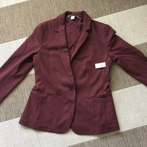 Burgundy blazer NWT medium